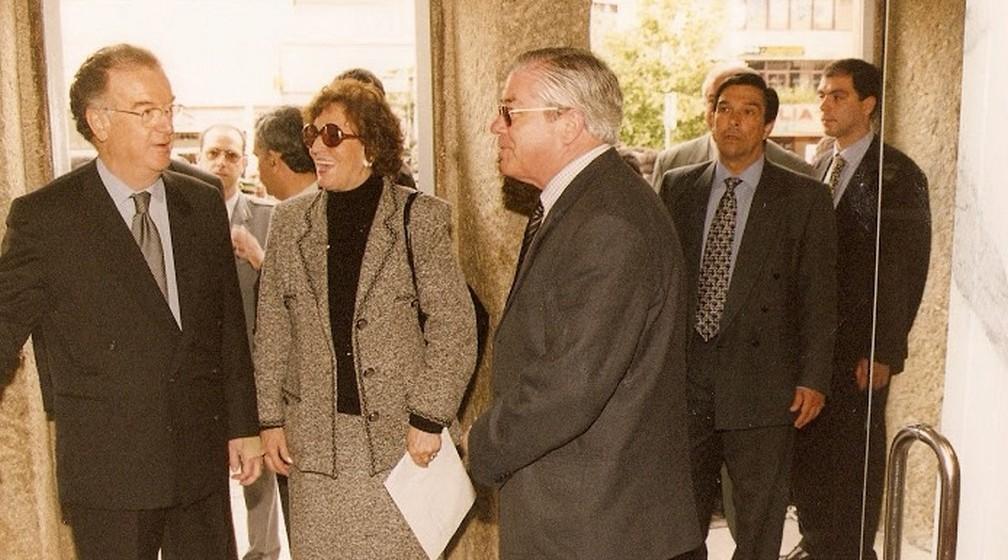 O então Presidente da República Jorge Sampaio recebeu Ana Elisa Couto para uma conversa sobre o Dia dos Avós.