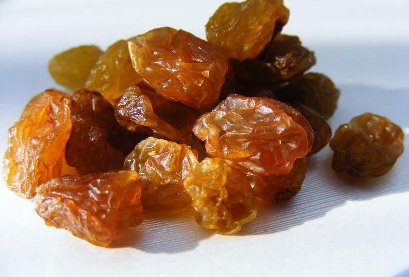 38g de passas de uva