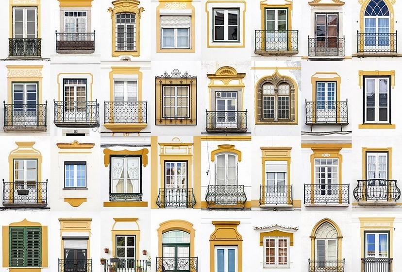 Na imagem, janelas de Évora.
