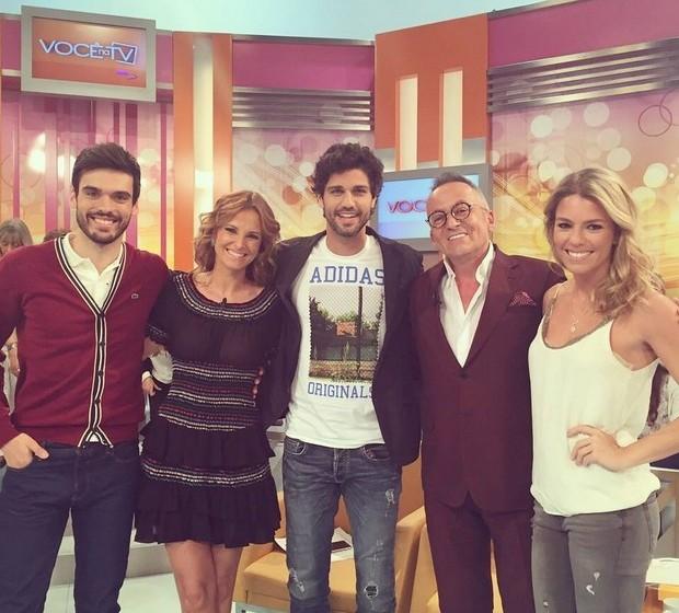"""O ator tem conquistado o público português com a sua simpatia e talento. O ator foi convidado do programa """"Você na TV""""."""