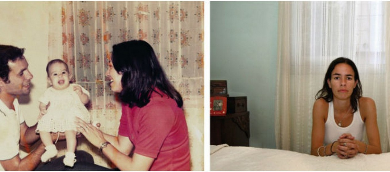 Em 1976, Claudia tirou esta foto com os seus pais. Em 2006, Claudia é uma orfã da guerra.