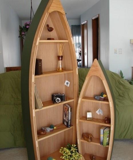 Se é do estilo desportivo e aventureiro e quer que a sua casa reflita a as paixão pela água, que tal reutilizar uma velha canoa ou até um pequeno barco a remos? Faça uma pintura nova e ganhe um objeto decorativo 100% original.