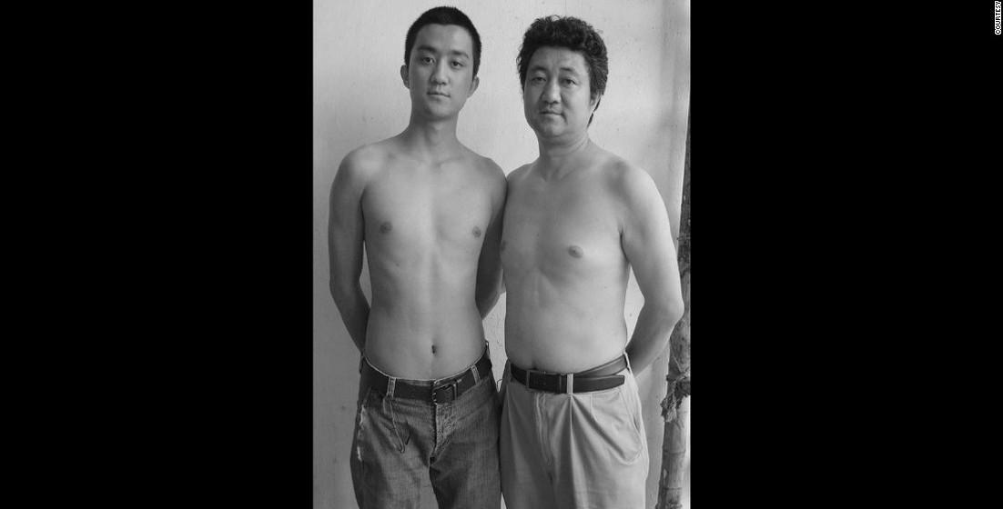 2008: O aumento de peso do pai é visível.