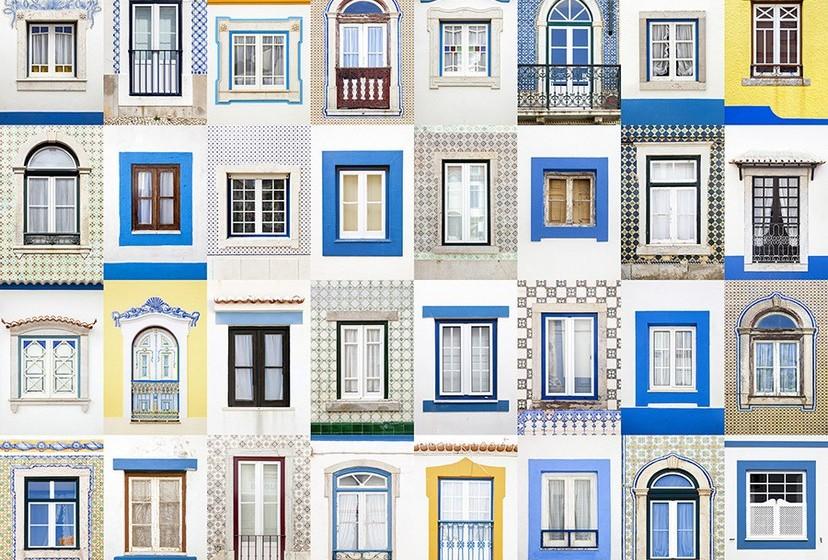 Na imagem, janelas da Ericeira.