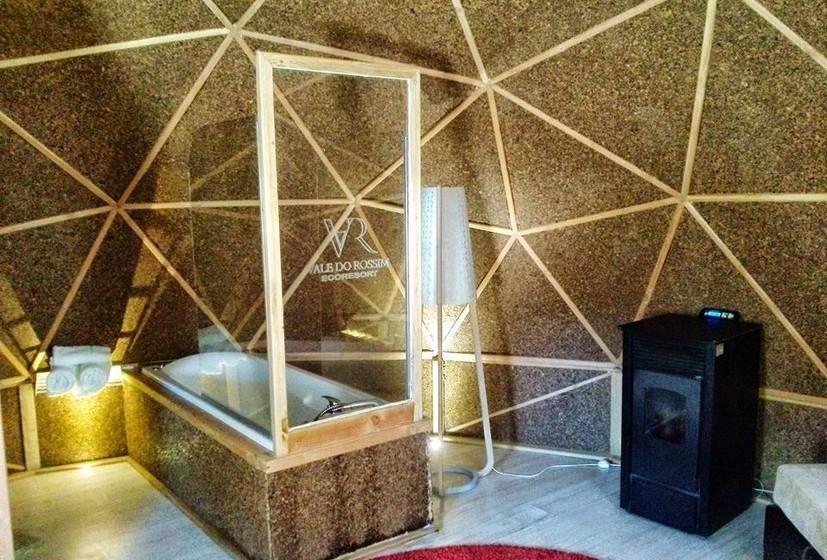 O revestimento permite manter as tendas aquecidas durante a época fria.