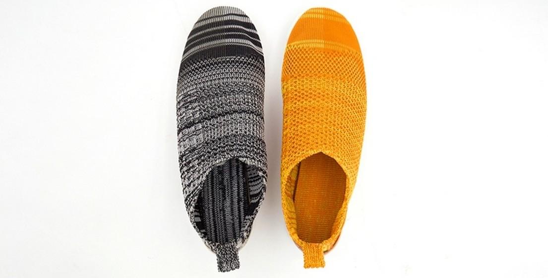 Estes sapatos, para já apresentados em duas cores, são feitos de um material desenvolvido a partir de fios de polímeros. Dependendo da programação da máquina, a malha pode ser mais ou menos rígida e flexível, podendo assim ter inúmeras utilizações.