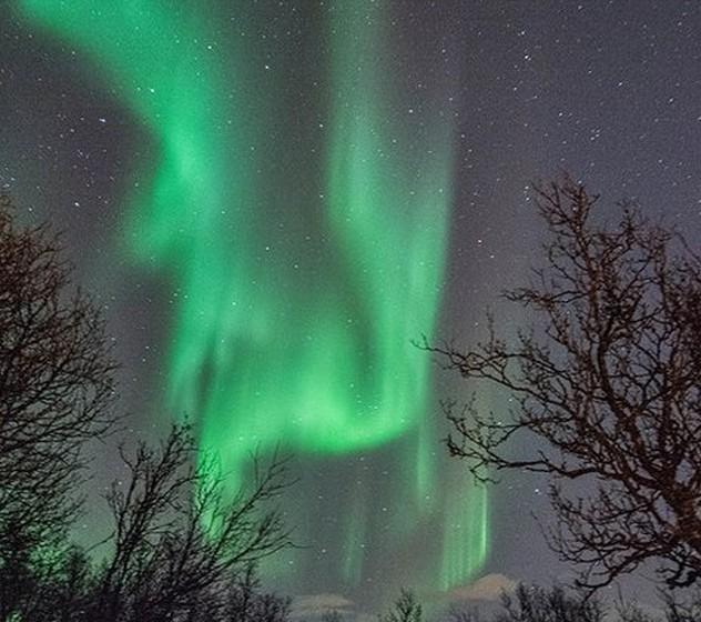 As fantásticas Luzes do Norte atraem milhares de turistas à Noruega todos os anos.