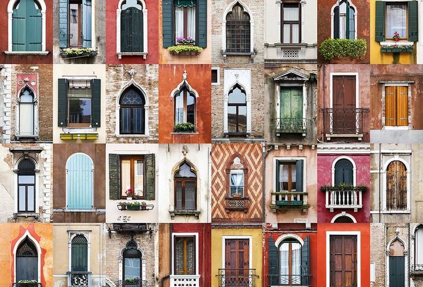 Na imagem, janelas de Veneza, Itália.