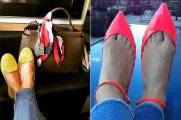 Fotografar o calçado parece ser a última tendência nas redes sociais e são várias as celebridades que já partilharam o que anda pelos seus pés